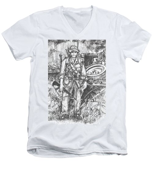 Vietnam Soldier Men's V-Neck T-Shirt