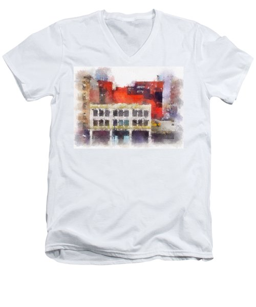 View From A New York Window Men's V-Neck T-Shirt