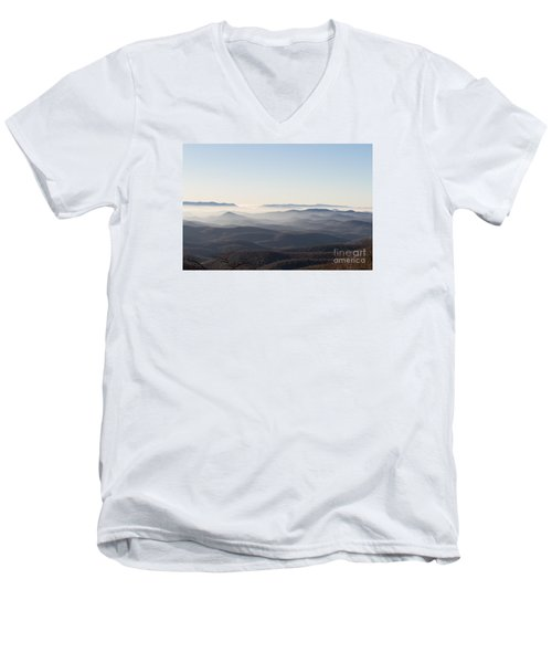 View From Blood Mountain Men's V-Neck T-Shirt by Paul Rebmann