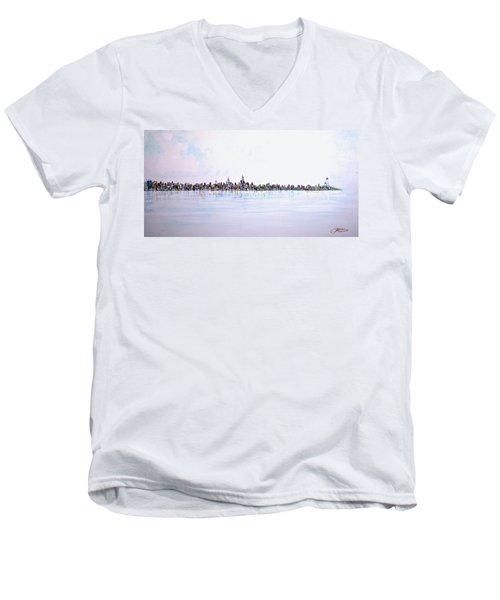 View From The Hudson Men's V-Neck T-Shirt