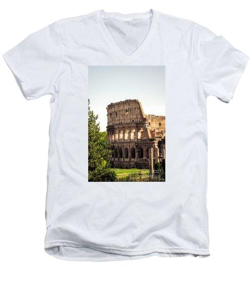 View Of Colosseum Men's V-Neck T-Shirt