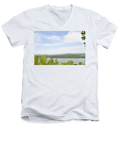View Of The Mountains Of Alabama Men's V-Neck T-Shirt by Verana Stark
