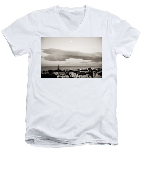 Village Rooftops At Sunrise Men's V-Neck T-Shirt