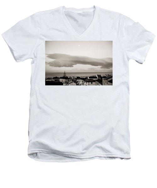 Village Rooftops At Sunrise Men's V-Neck T-Shirt