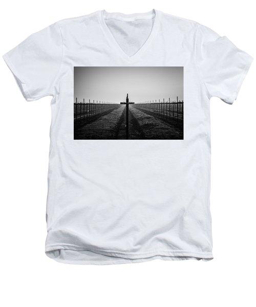 Vineyard Cross Men's V-Neck T-Shirt