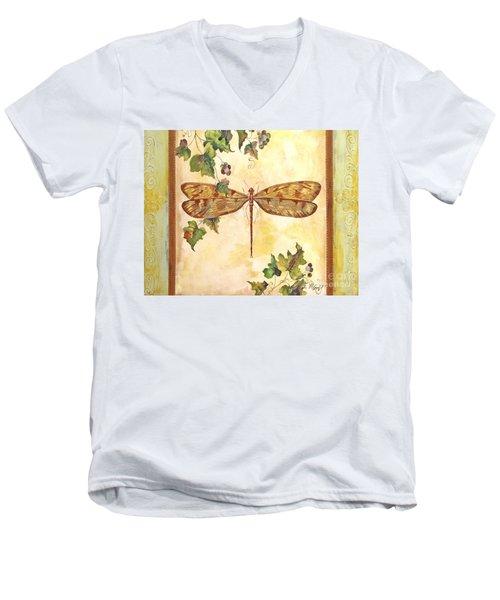Vineyard Dragonfly Men's V-Neck T-Shirt