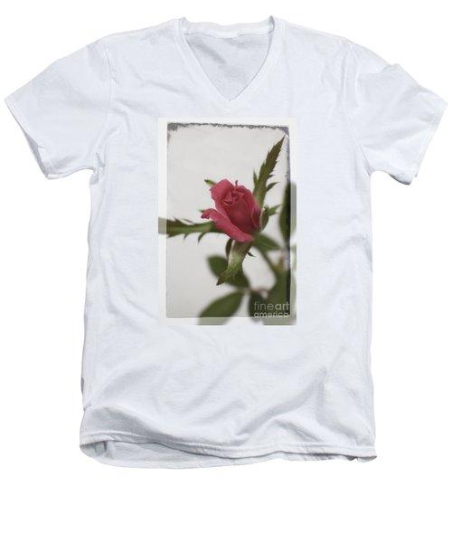 Vintage Antique Rose Men's V-Neck T-Shirt