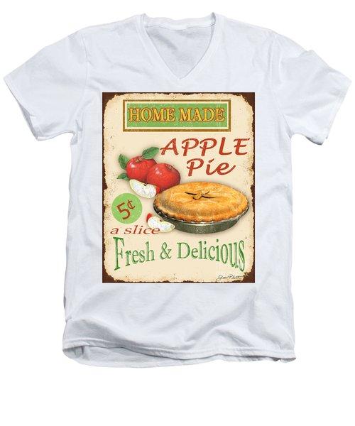 Vintage Apple Pie Sign Men's V-Neck T-Shirt by Jean Plout