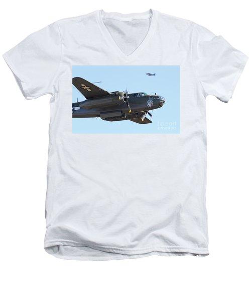 Vintage B-25 Mitchell Bomber Men's V-Neck T-Shirt