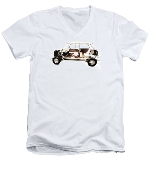 Vintage Car  Men's V-Neck T-Shirt