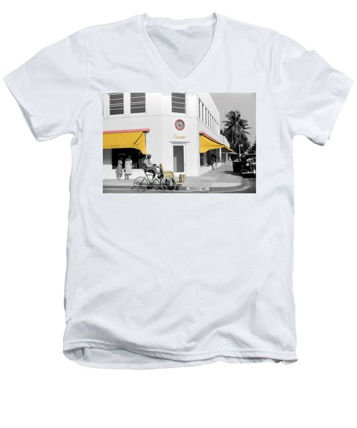 Vintage Cartier Store Men's V-Neck T-Shirt