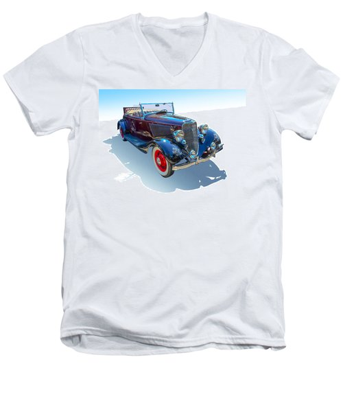 Men's V-Neck T-Shirt featuring the photograph Vintage Convertible by Gianfranco Weiss
