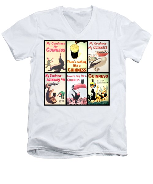 Vintage Guinness  Men's V-Neck T-Shirt