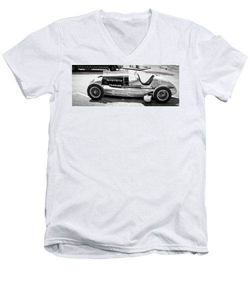 Men's V-Neck T-Shirt featuring the photograph Vintage Racing Car by Gianfranco Weiss