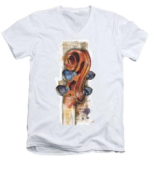 Violin 02 Elena Yakubovich Men's V-Neck T-Shirt
