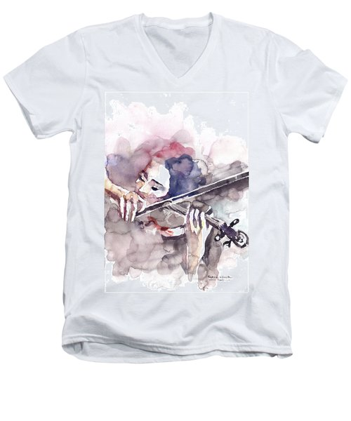 Violin Prelude Men's V-Neck T-Shirt