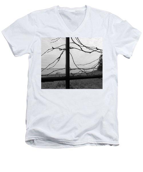 Virginia Creeper  Men's V-Neck T-Shirt by Cheryl Hoyle