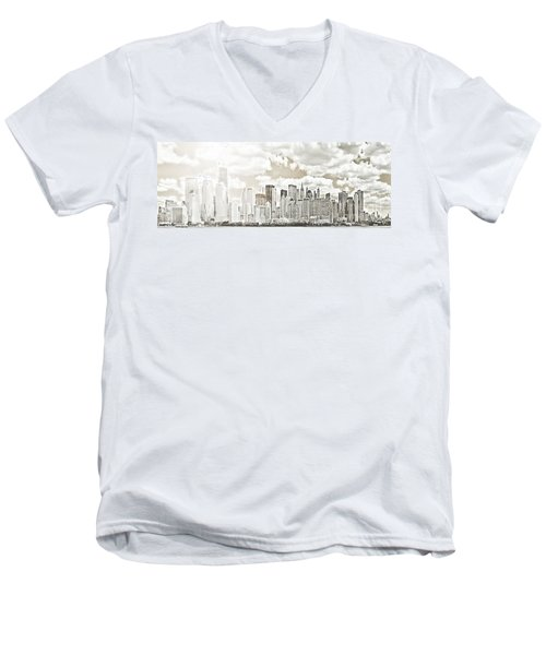 Men's V-Neck T-Shirt featuring the photograph Visions In My Mind by Janie Johnson