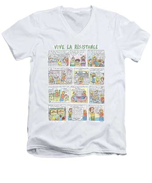 Vive La Resistance Men's V-Neck T-Shirt