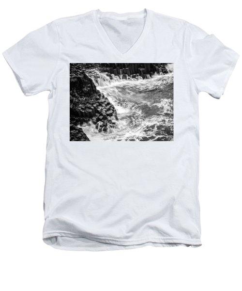 Volcanic Rocks And Water Men's V-Neck T-Shirt