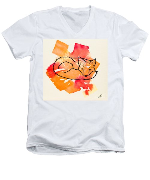 Vulpes Vulpes Men's V-Neck T-Shirt by Stefanie Forck