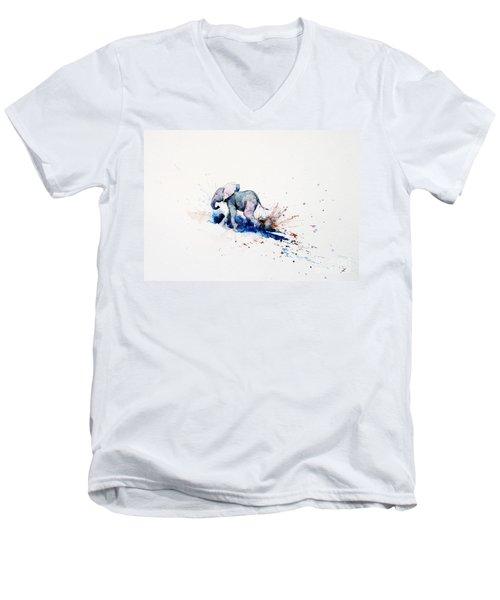 Wait For Me Men's V-Neck T-Shirt by Zaira Dzhaubaeva