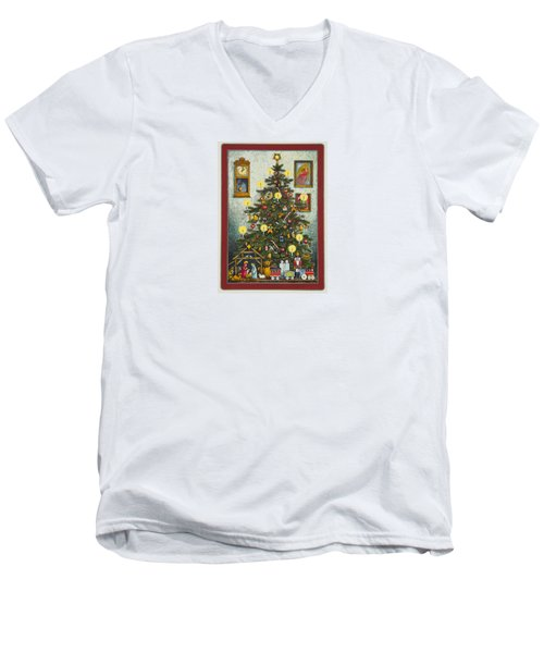 Waiting For Christmas Morning Men's V-Neck T-Shirt
