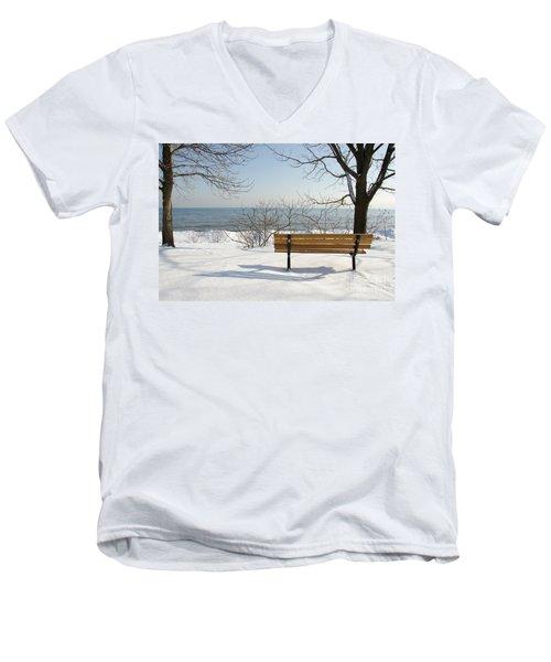 Waiting For Spring Men's V-Neck T-Shirt by Laurel Best