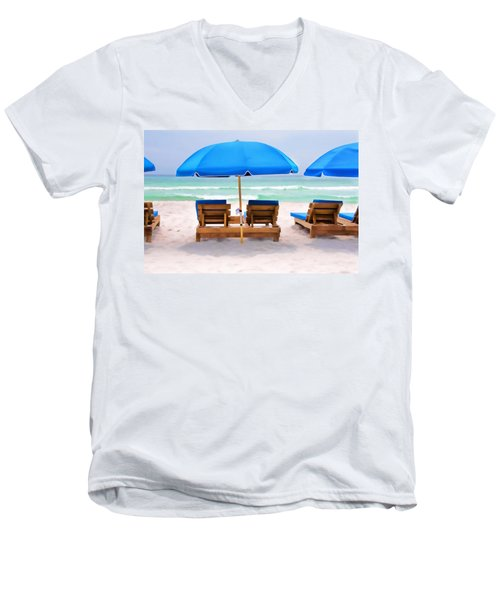 Panama City Beach Digital Painting Men's V-Neck T-Shirt
