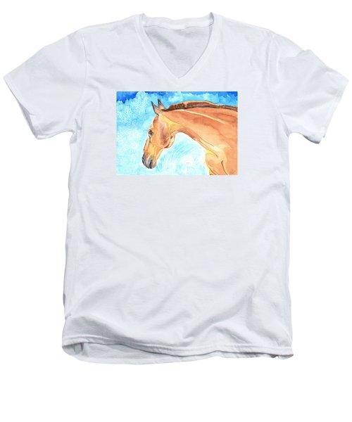 Waiting Silently Men's V-Neck T-Shirt by Kate Black