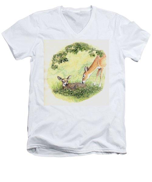 Wake Up Sleepyhead Men's V-Neck T-Shirt by Duane R Probus