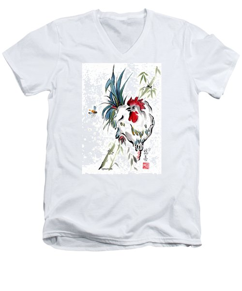 Men's V-Neck T-Shirt featuring the painting Walkabout by Bill Searle