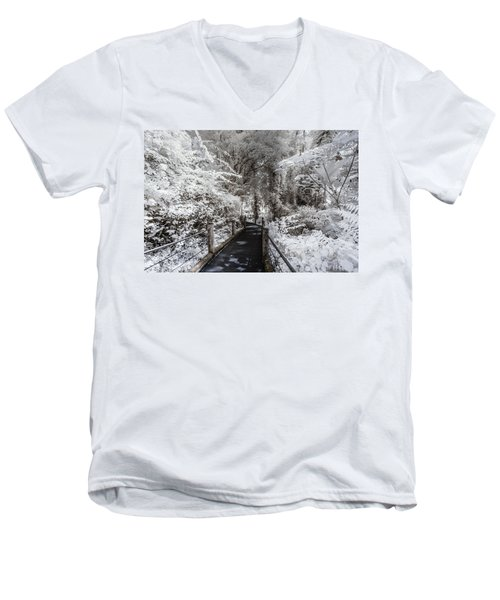 Walking Into The Infrared Jungle 1 Men's V-Neck T-Shirt