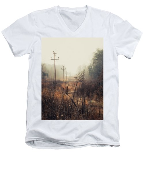 Walking The Lines Men's V-Neck T-Shirt