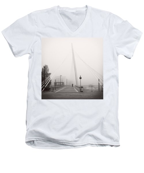 Walking Through The Mist Men's V-Neck T-Shirt by Ari Salmela