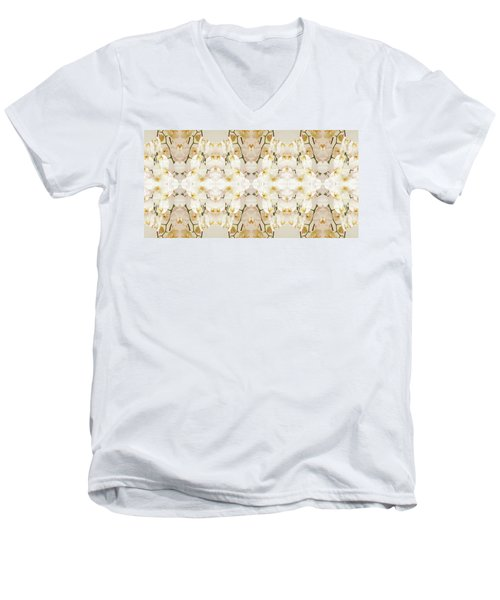 Wall Of Orchids II Panorama Men's V-Neck T-Shirt