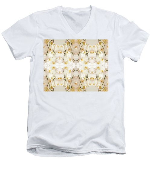 Wall Of Orchids II Men's V-Neck T-Shirt