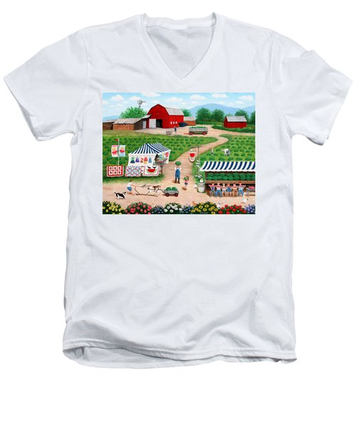 Walter's Watermelons Men's V-Neck T-Shirt