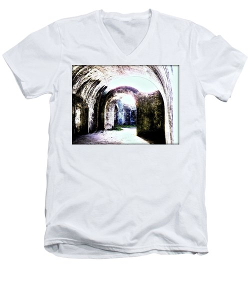 War At Fort Pickens Men's V-Neck T-Shirt by Faith Williams