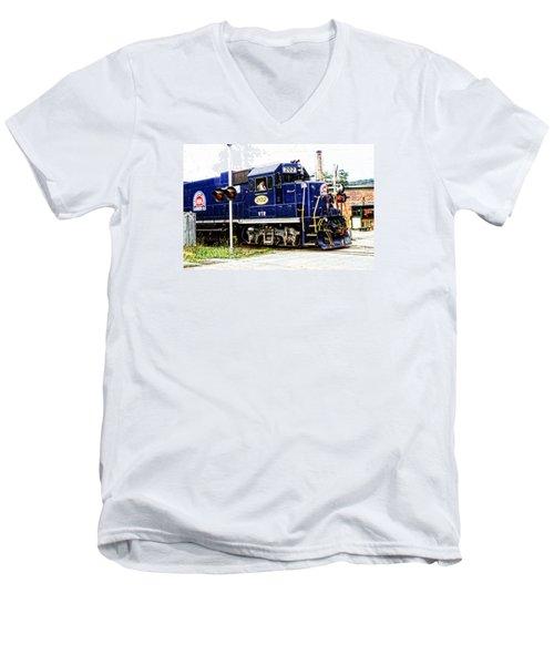 Washington County Railroad Men's V-Neck T-Shirt by Mike Martin