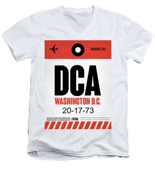 Washington D.c. Airport Poster 1 Men's V-Neck T-Shirt