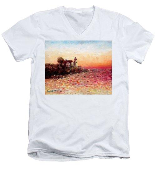 Watch Over Me Men's V-Neck T-Shirt by Shana Rowe Jackson
