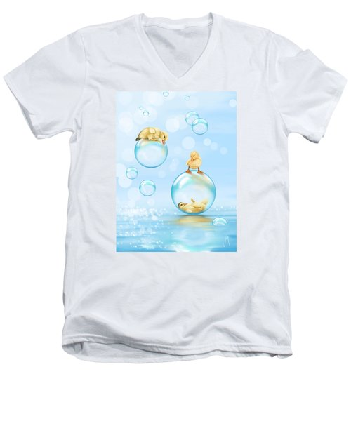 Water Games Men's V-Neck T-Shirt by Veronica Minozzi