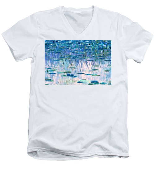 Men's V-Neck T-Shirt featuring the photograph Water Lilies by Chris Anderson