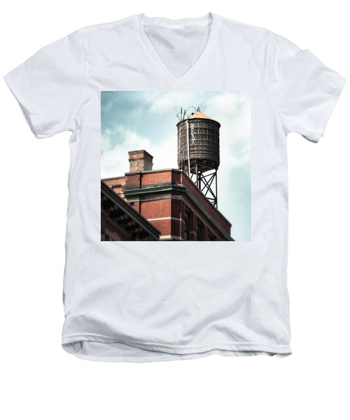 Water Tower In New York City - New York Water Tower 13 Men's V-Neck T-Shirt