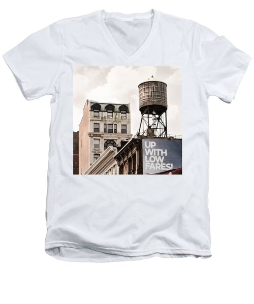 Water Towers 14 - New York City Men's V-Neck T-Shirt