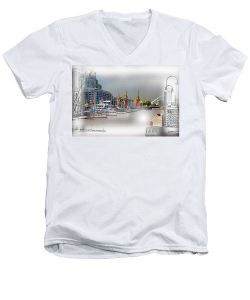 Water Way Buenos Aires Men's V-Neck T-Shirt