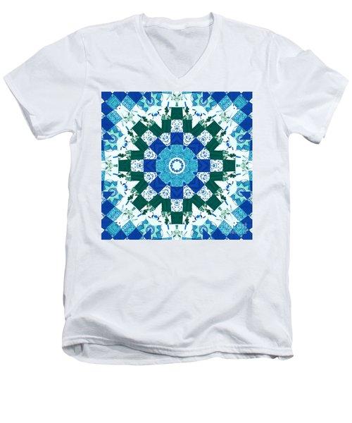 Watercolor Quilt Men's V-Neck T-Shirt