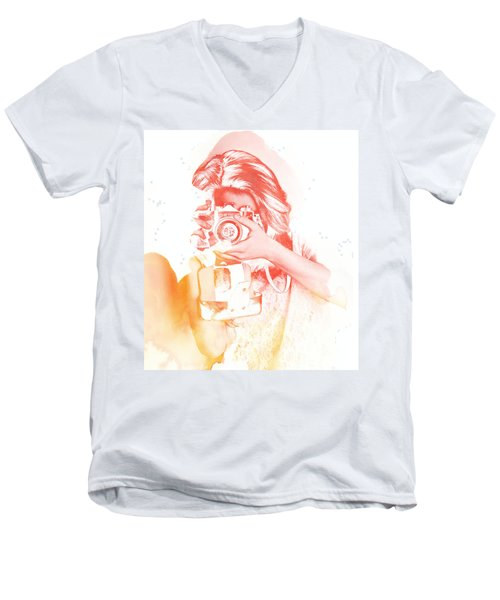 Watercolor Shoot Men's V-Neck T-Shirt