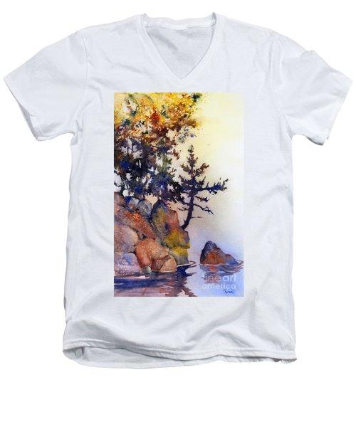 Water's Edge Men's V-Neck T-Shirt by Teresa Ascone